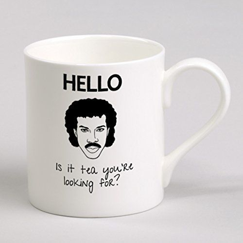 Hello is it Tea you're Looking For? Lionel Richtea - Bone China Mug Cup verytea http://www.amazon.co.uk/dp/B00ICJ19YM/ref=cm_sw_r_pi_dp_GjdXwb1TFXP3G