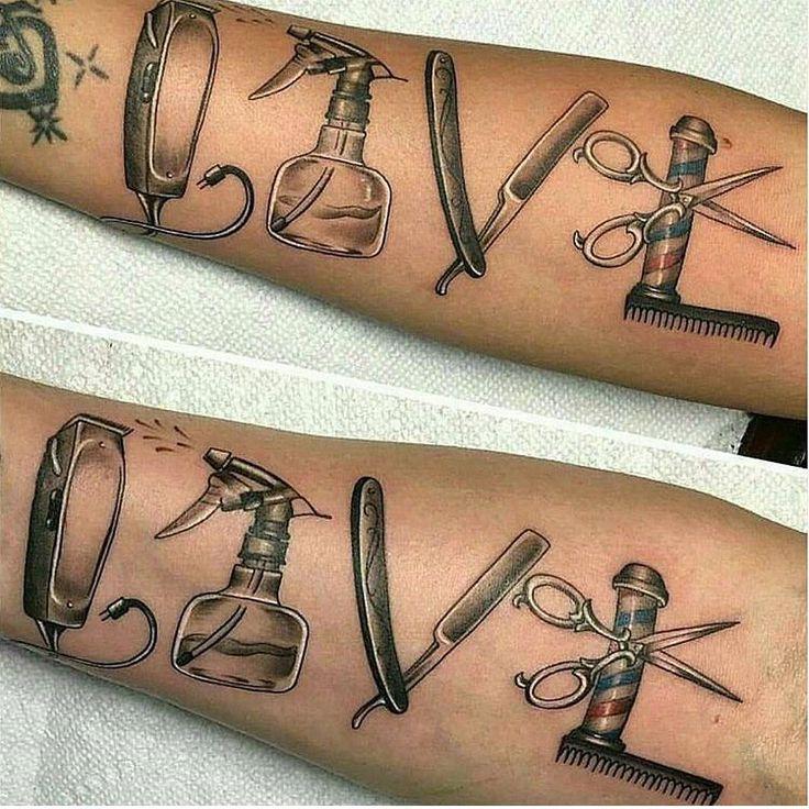 Barber tattoo, LOVE ✂️