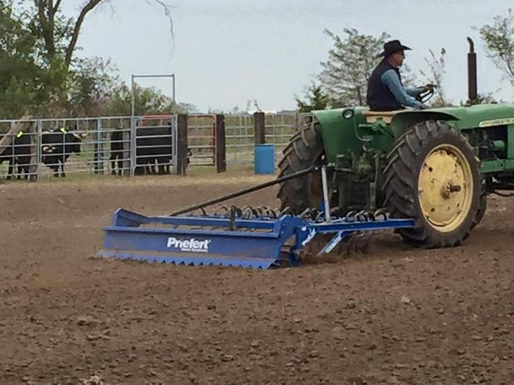Marty gets the arena prepared with his Arena Groomer https://www.priefert.com/products/roping-and-rodeo-equipment