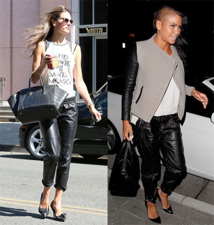 The Look for Less: Elizabeth and James Leather Jogging Pants - The Budget Babe