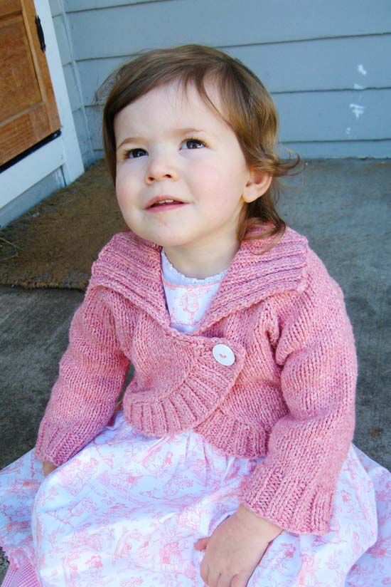 girls bolero pattern - top down! - from Knitting Pure and Simple knit this ...