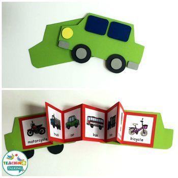 Transportation: Interactive Speech Therapy Activities by teachingtalking.com