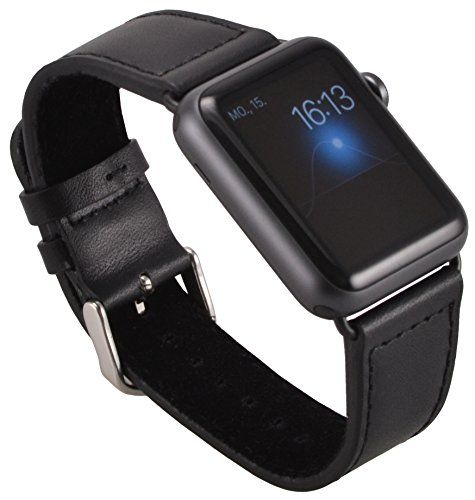 Nuova offerta in #elettronica : Apple Watch Lussuoso braccialetto / Cinturino dell'orologio con chiusura strap in vera pelle scamosciata con Pregiato cinturino per orologio nero / Adattatore per orologio / Connettore strap con chiusura di metallo 38 mm Basic Sport Edition - in nero di OKCS a soli 1695 EUR. Affrettati! hai tempo solo fino a 2016-11-05 23:39:00