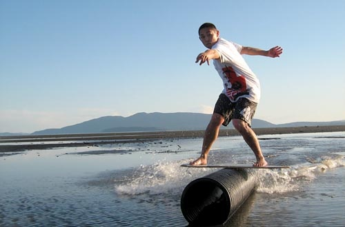 how to build a skimboard rail