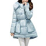 Zhhlinyuan Outdoor Cute Hooded Outerwear Down Jacket Ladies Coats Long Winter Warm