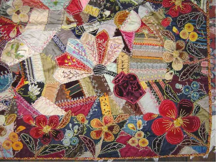 63 best Crazy quilt images on Pinterest : antique crazy quilt - Adamdwight.com