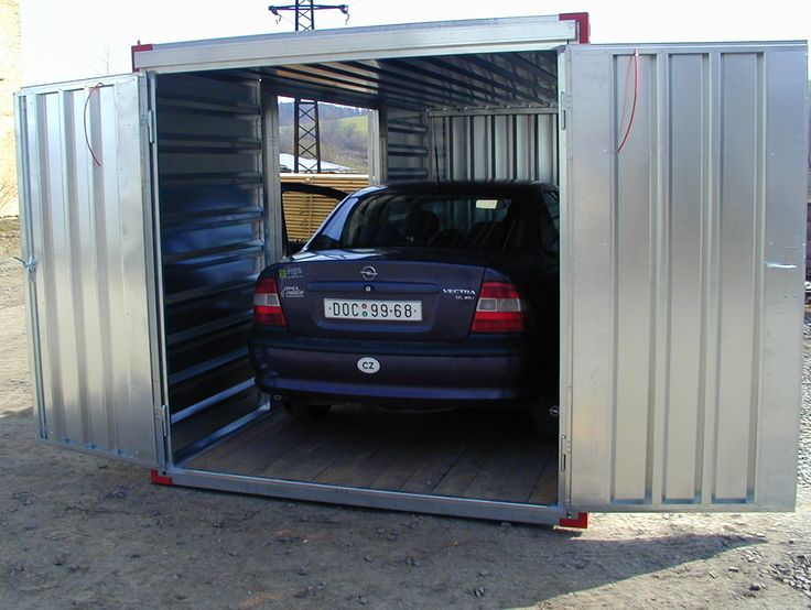 Garage voiture x kovobel garage containers pinterest for Container garage voiture