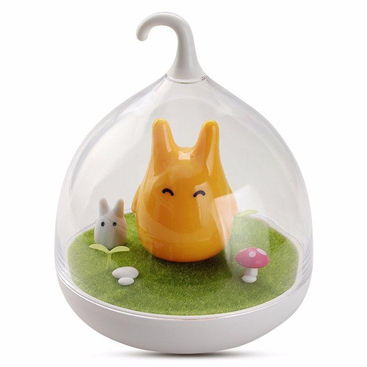 LED Abajur Totoro Nightlight Portable Touch Sensor USB Rechargeable LED Baby Night Light Lamparas Novelty Lamp For Children Gift