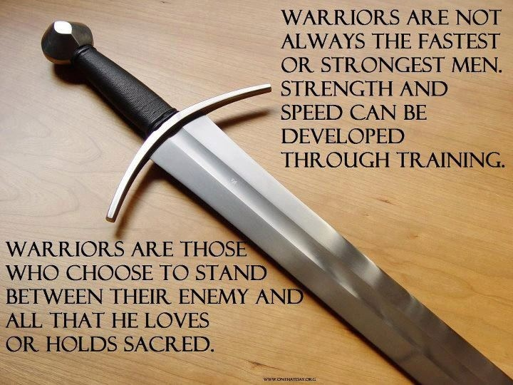 """A Warrior - """"The more you sweat in training, the less you will bleed in battle."""" - Motto of Navy Seals"""