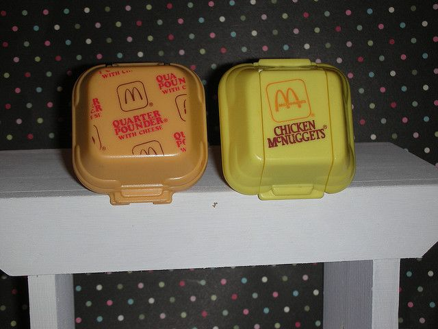 McDonalds ~ remember when they used styrofoam containers?