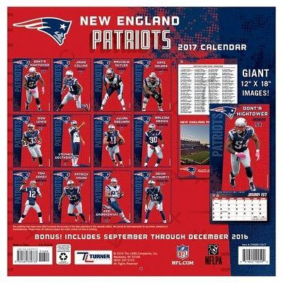New England Patriots 2017 Calendar (Paperback)