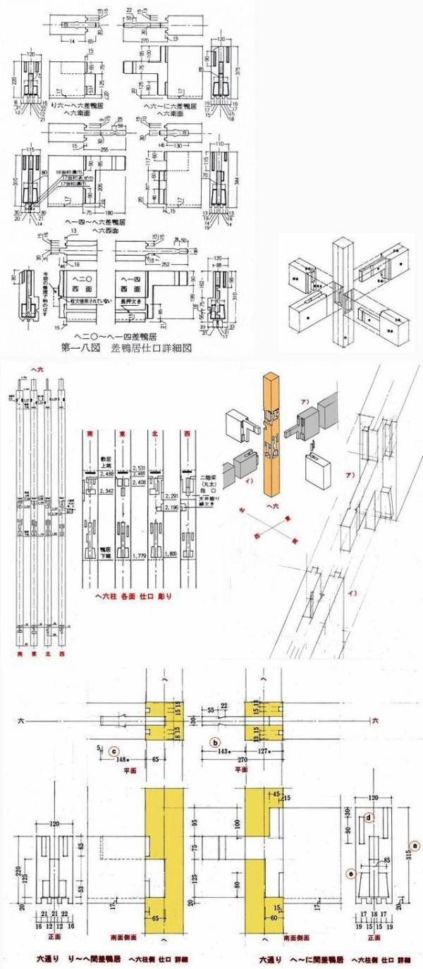 日本の建物づくりを支えてきた技術−33・・・・継手・仕口(17):高木家の竿シャチ継ぎ - 建築をめぐる話・・・・つくることの原点を考える                下山眞司