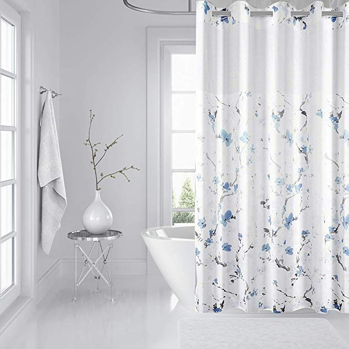 Amazon Com Eacolle Shower Curtain Hookless Bathroom Shower