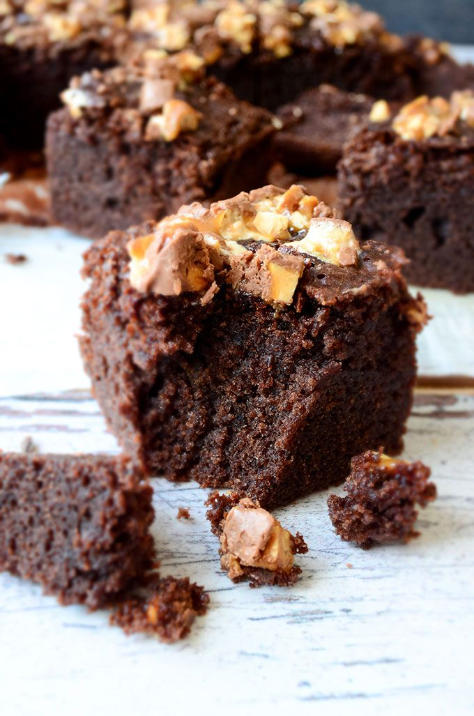 Fudgy Gluten Free Brownies are so good that you should try even if you don't have celiac disease. These are so moist! Rice flour works really fine. | giverecipe.com | #glutenfree