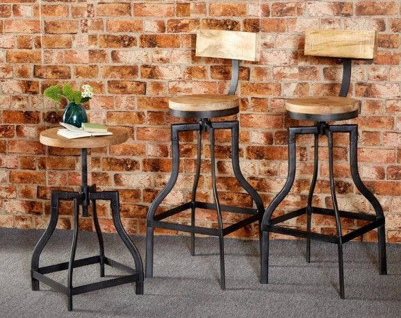 Industrial bar stools, looking for reclaimed furniture in vintage industrial styles then you've come to the right place, contact furniture then contact us