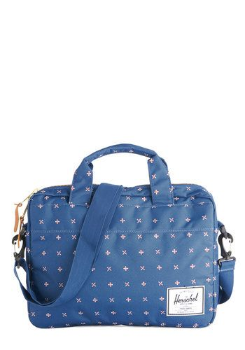 Time Well Spent Laptop Bag. On a fun afternoon with your pals, stash your laptop in this bag by Herschel Supply Co. #blue #modcloth