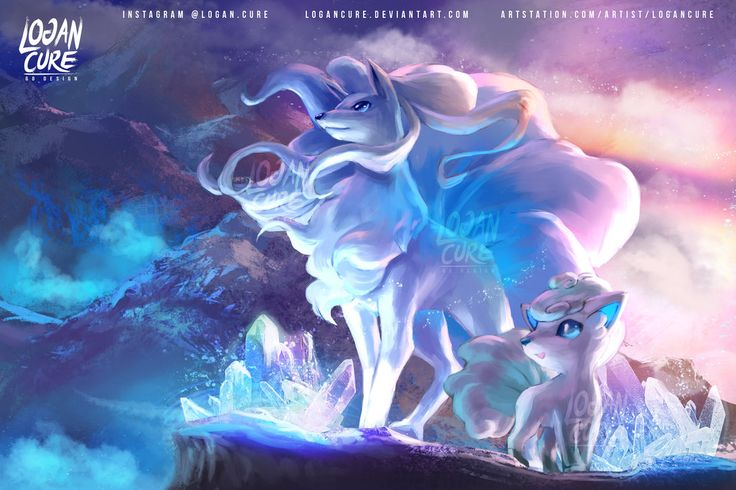 glasses for women Hi let me introduce the Beautiful Alola Ninetales and Vulpix see the speedpaint