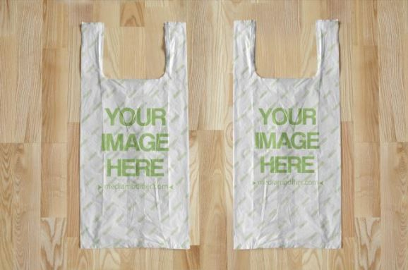 Download 2 Plastic Bags On Wood Background Mockup Generator Bags Mockup Plastic Shopping Bags Mockup Presentation Template Mockup Generator Wood Background Plastic Bag