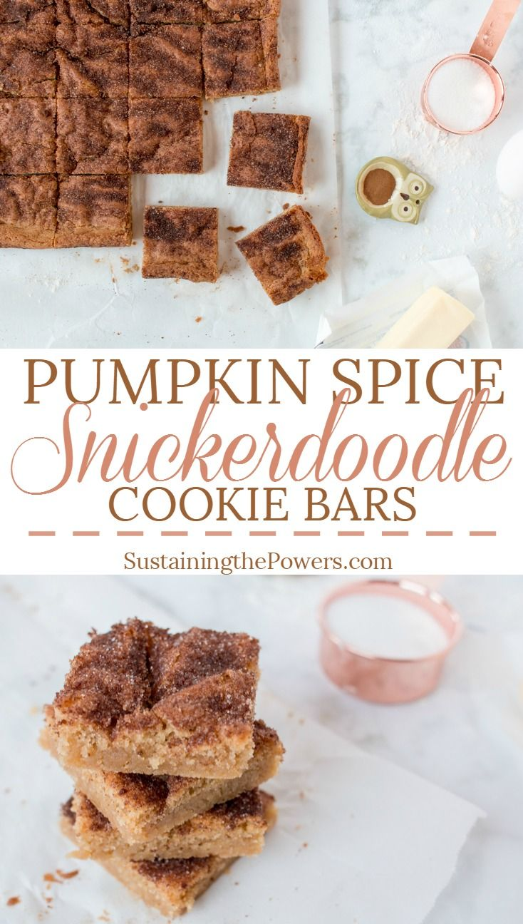 How to Make Pumpkin Spice Snickerdoodle Cookie Bars | These cookie bars take…