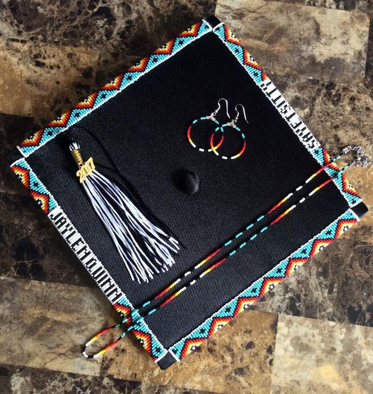 American Native Beaded Cap Graduation
