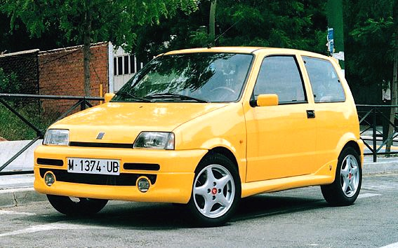 Fiat Cinquecento - again looks good in yellow.  I owned a red one in the mid 90's, would love another one if I could find an unmolested one.  Most have been thrashed, crashed and abused.