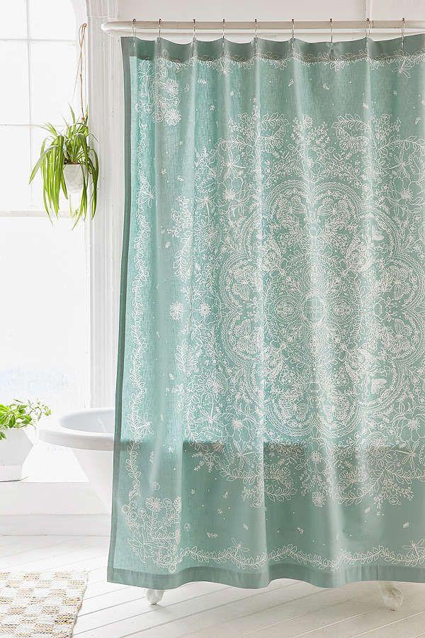 Slide View: 1: Cece Lace Shower Curtain