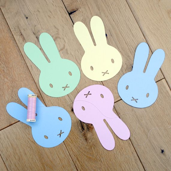 DIY Printable Easter garland craft project | Mini-eco