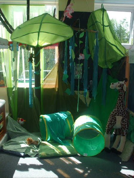 Jungle role-play area classroom display photo - Photo gallery - SparkleBox