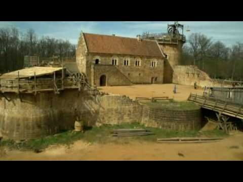 Secrets Of The Castle - Episode 1 - Building a castle using medieval methods. Features rope making, carpentry, masonry, a treadmill crane and other tools and skills