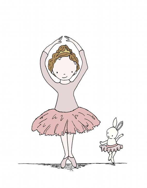 Bunny Art Ballerina Buddies Girl Nursery by SweetMelodyDesigns, $10.00