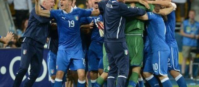 L'Italie s'est qualifiée pour les demi-finales de l'Euro-2012 en battant l'Angleterre 4 tirs au but à 2 (0-0 a.p.), au terme d'une rencontre qu'elle a dominée sans toutefois percer le verrou d'une équipe anglaise courageuse, dimanche soir à Kiev, en quart de finale.