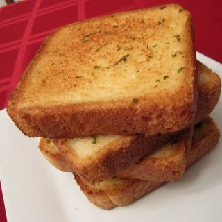 Homemade Garlic Bread-> Texas Toast to have with bbq chicken