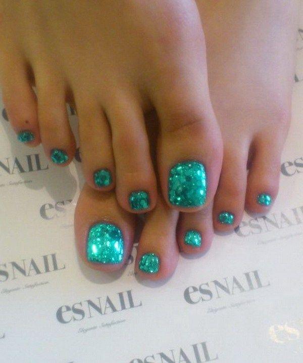 Mermaid Toe Nail Art Design.