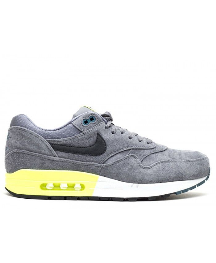 save off 625a2 f04b7 Air Max 1 Prm Cool Grey, Black Pine-Vlt-White 512033-007   AIR-MAX1    Pinterest   Shoe sale uk, Air max and Mens shoes sale