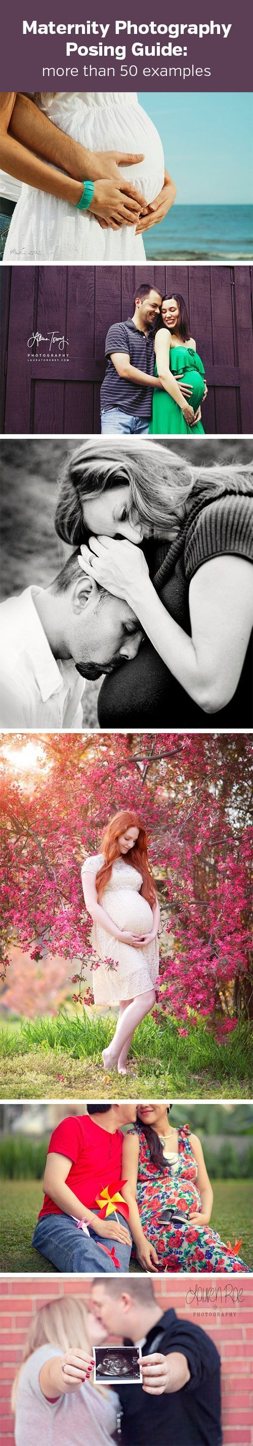 Maternity Photography Posing Guide - shows how to use more than 50 different poses for beautiful maternity photos