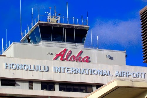 Honolulu International Airport code: HNL. Frequently mixed up with HLN, Helena, MT. If your luggage (or kid) is lost, this could be the reason. lol