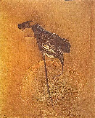 Silêncio 1968   Manabu Mabe acrílica sobre tela, c.i.e. 127.00 x 102.00 cm