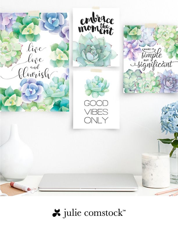 Free Watercolor Succulents Art Print Free Printable Wall Art