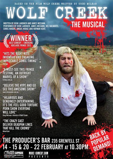 Wolf Creek, The Musical - back for the Fringe! #adelaide #adlfringe #wolfcreek