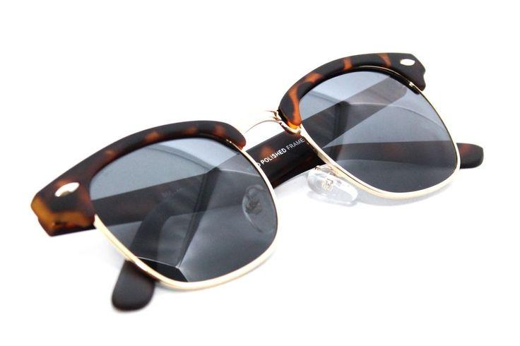 Soho Club Master Men's Women's Sunglasses Way Horn Rim Soft Tuch Brown Tortoise #Unbranded #Square