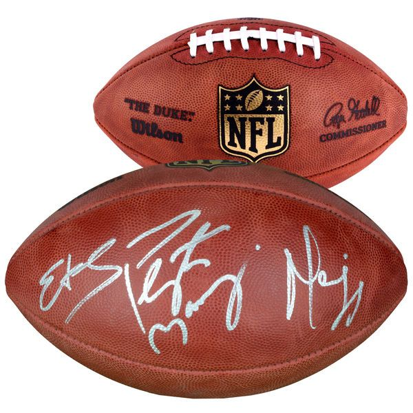 Edgerrin James, Peyton Manning, and Marvin Harrison Indianapolis Colts Fanatics Authentic Autographed Duke Pro Football - $849.99