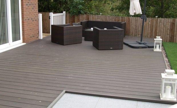 outdoor deck floor material , composite waterproof decking material prices