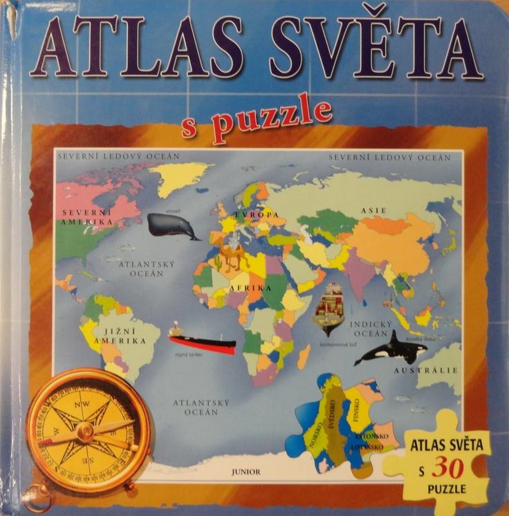 Kristián's favourite book Atlas sveta.