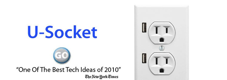 USB wall socket for charging your mobile device.  #smart