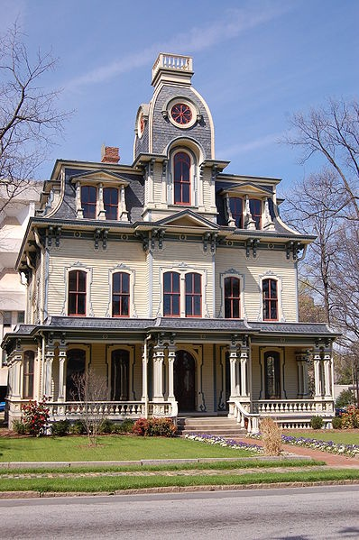 second empire victorian style house victorian homes pinterest. Black Bedroom Furniture Sets. Home Design Ideas