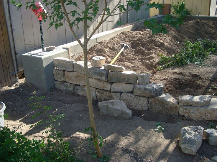 Retaining Wall And Footer Pouring Concrete Gardens
