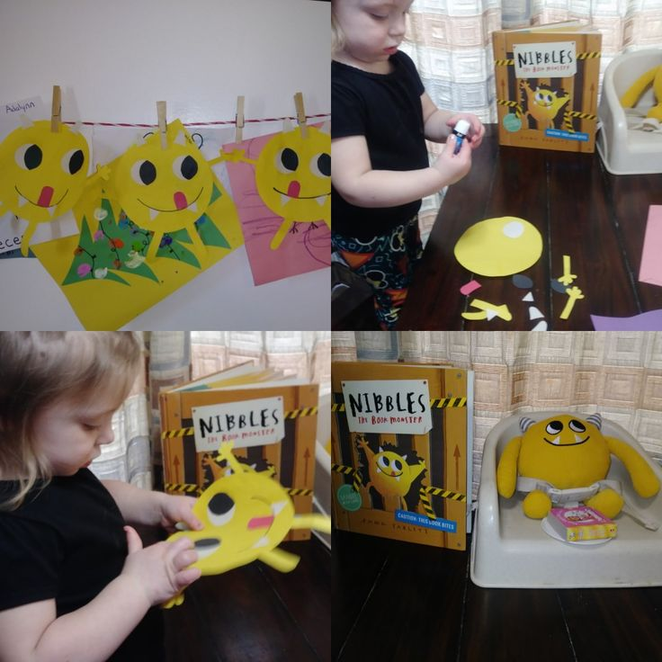 An easy craft to go along with Nibbles the Book Monster ...
