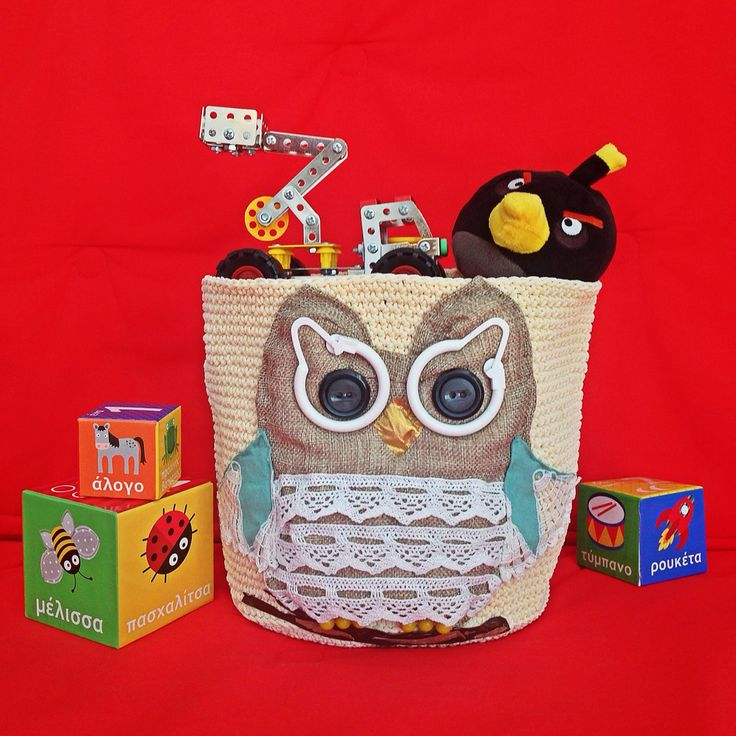 Owl! Customized handmade Toy Bag for babies