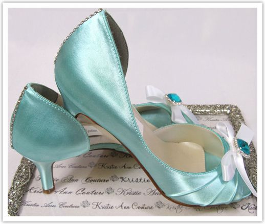 Turquoise Bridal Shoes