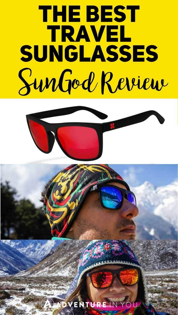 Sunglasses Review   Looking for a pair of sturdy travel sunglasses? Take a look at our full review on sungod glasses featuring an awesome 4k0 polarized lenses and more. These sunglasses are the perfect addition to your travel gear. #sunglasses #sungod #travelgear